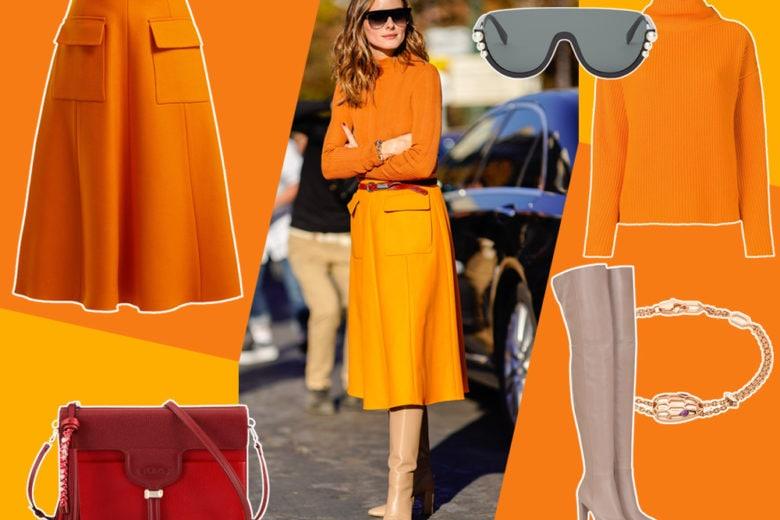 Orange is the new black: la combo arancione (e super chic!) di Olivia Palermo
