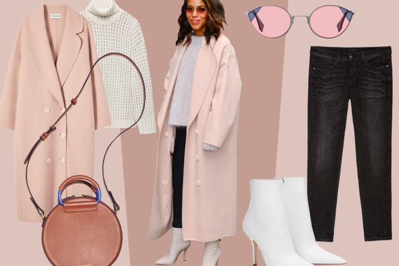 Il cappotto must have dell'inverno? È rosa! (E Kerry Washington ci insegna come abbinarlo)