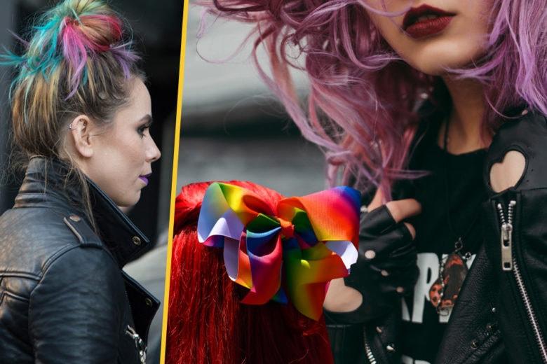 Rainbow undercuts: prova la tendenza capelli con i look più originali