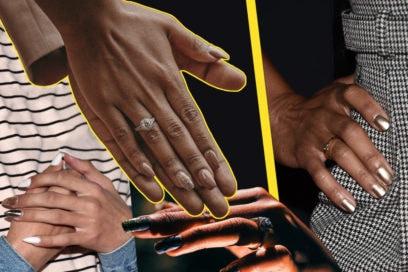 Metal mania: le nail art più belle per unghie super luminose