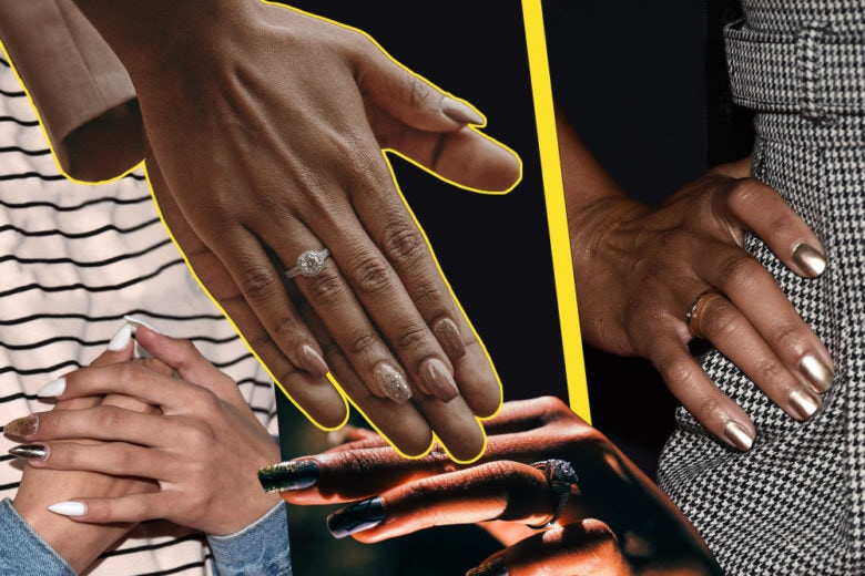 Metal mania: le nail art più belle per unghie super luminose
