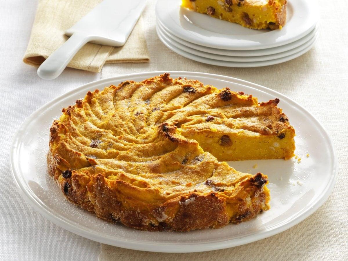 Torta di zucca gialla e patate dolci (1)