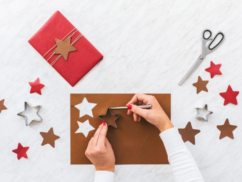 Woman draws stars