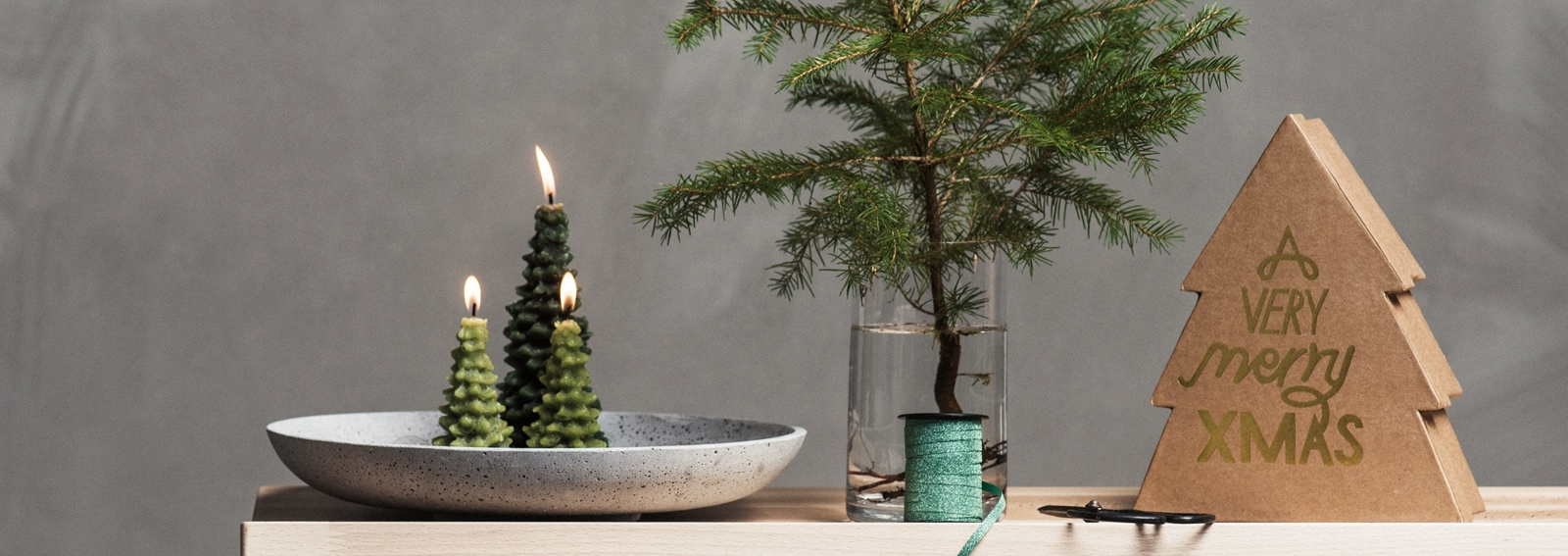 Christmas decoration lights still life scandinavian style