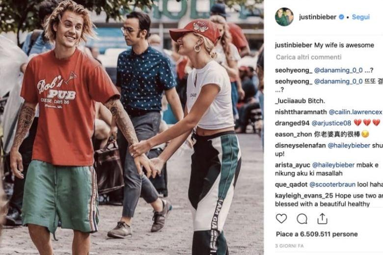 Justin Bieber e Hailey Baldwin si sono sposati: ecco le prove