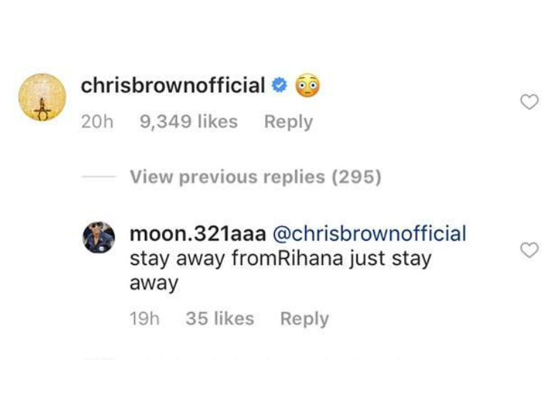 rihanna e chris brown commenti