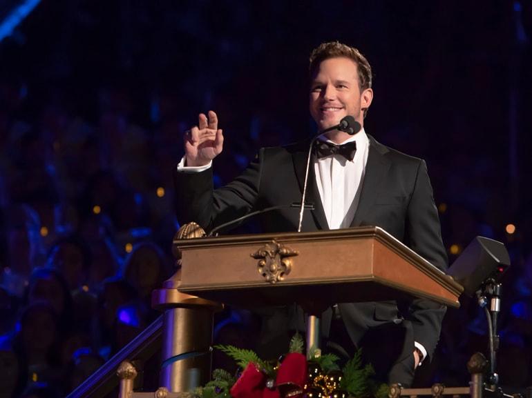 Chris Pratt Narrates The Candlelight Processional at Disneyland