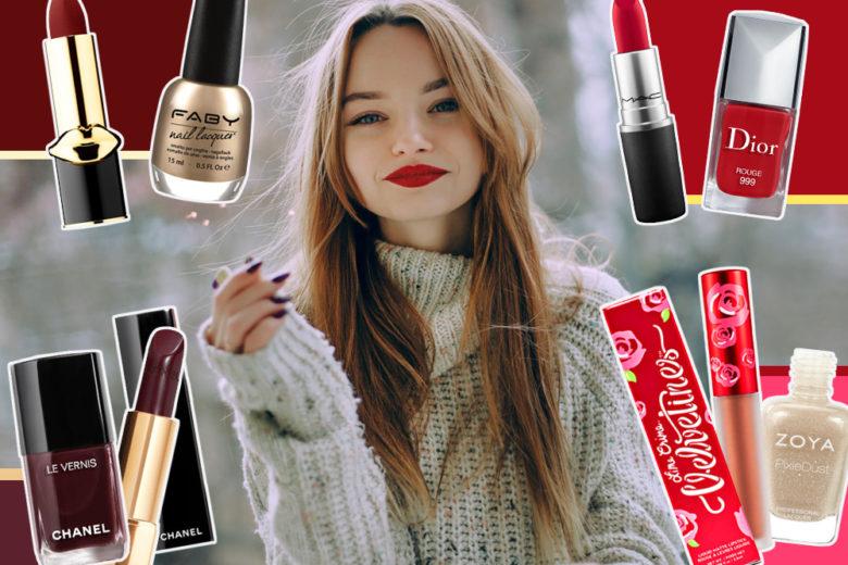 Non sapete come abbinare smalto e rossetto per Natale? Ecco 7 idee glam da provare