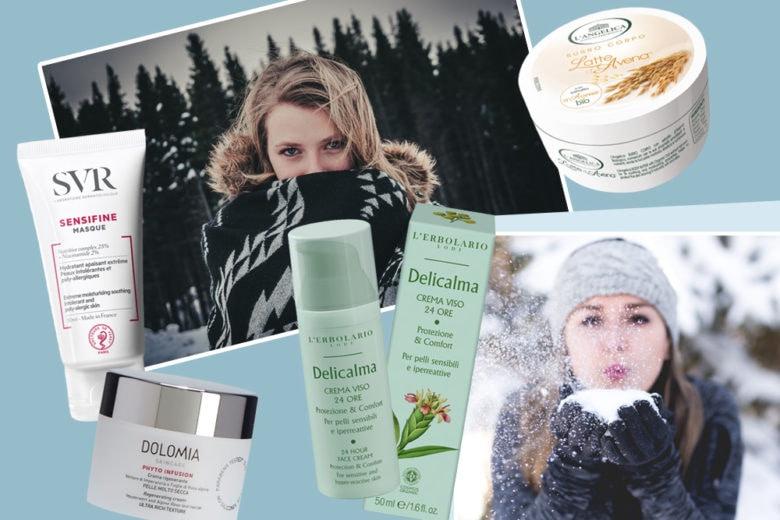 Pelle in inverno: secchezza e arrossamenti, i prodotti viso per prevenirli