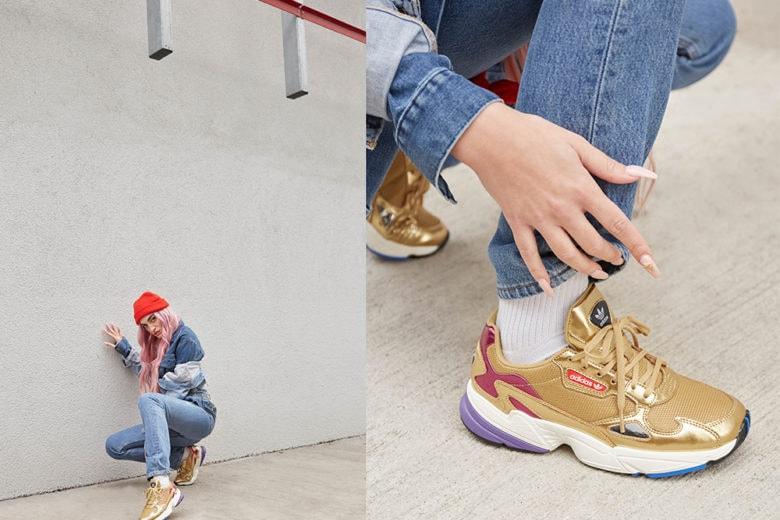 Roshelle e lo stile anni Novanta delle nuove sneaker Falcon di adidas Originals
