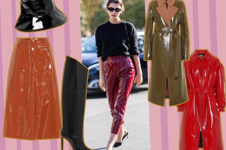 """Passione vinile: i capi e gli accessori in pelle """"glossy"""" per dare il twist giusto al guardaroba"""