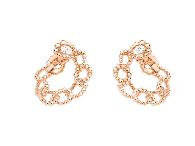 ORECCHINI-ARCHI-DIOR-MILIEU-DU-SIÈCLE-oro-rosa-e-diamanti