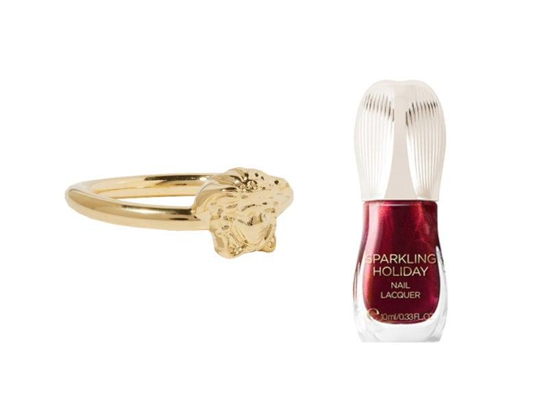 anello oro smalto rosso metal
