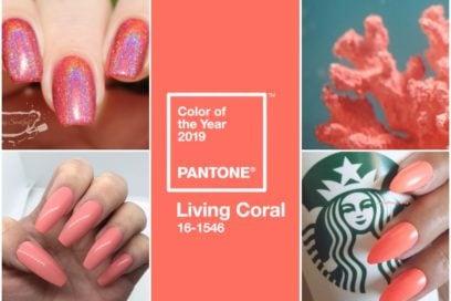 Unghie corallo: la tendenza nail art Pantone Living Coral per manicure glam