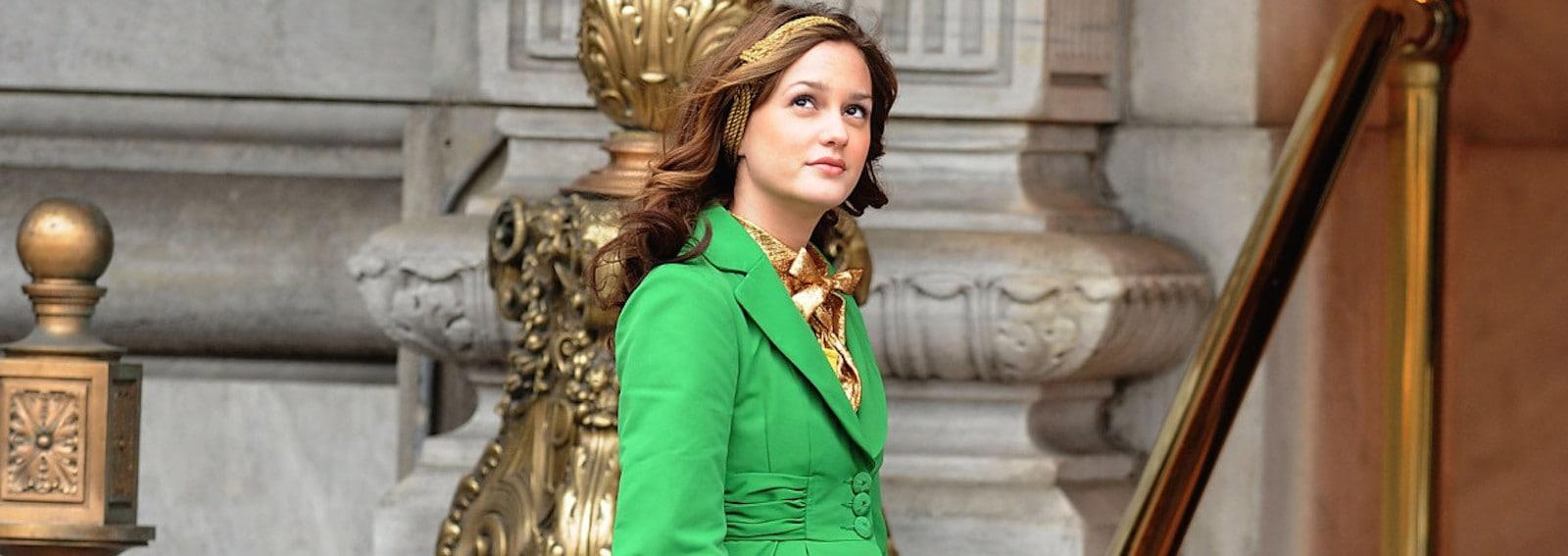 Blair Waldorf giacca verde