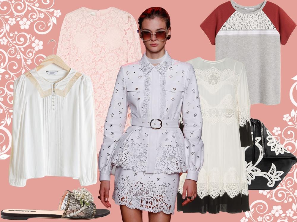 Abbigliamento in pizzo: abiti e accessori per la primavera 2019