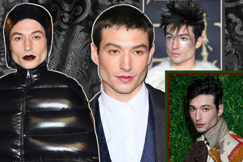 Ezra Miller beauty look: make up, acconciature e stile dell'attore del momento