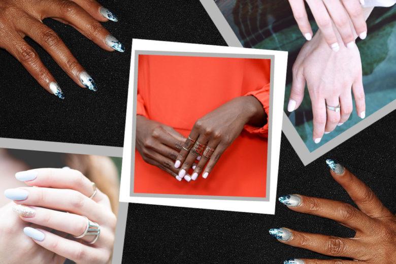 White nail: tutte le migliori manicure ispirate al colore della neve