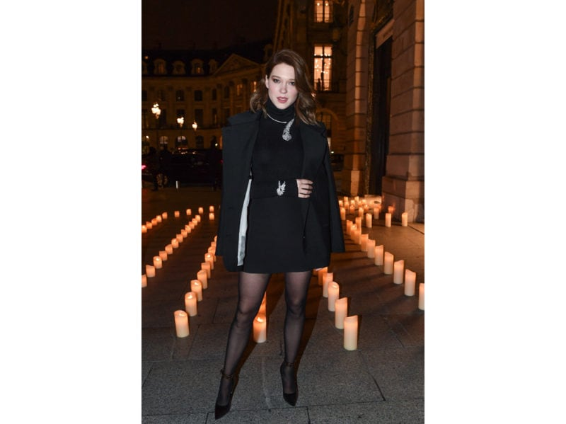 Léa Seydoux alla cena di Boucheron getty