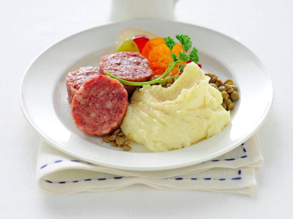 Zampone e lenticchie con purè(1)
