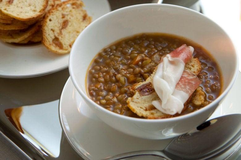 Zuppa classica di lenticchie di Castelluccio