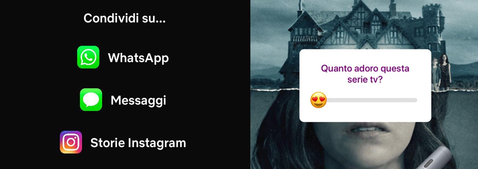 instagram netflix condivisione