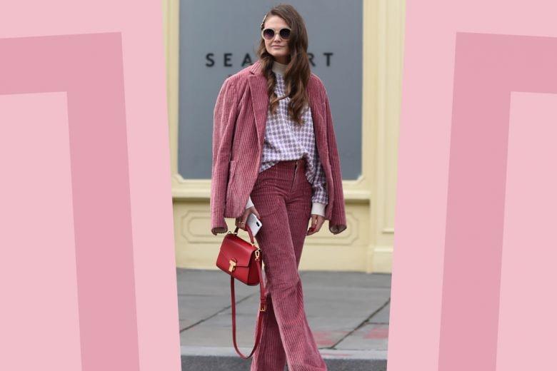 Come indossare il completo rosa in primavera? A noi piace così!