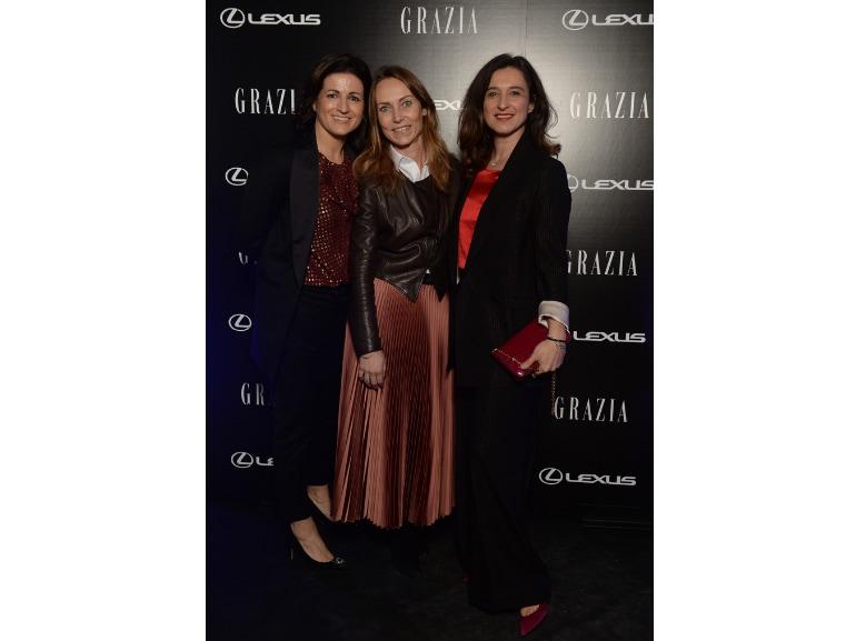 Festa Grazia e Lexus Claudia Capogrossi Marketing Manager Grazia Sara Gallotti HR People Network Alleanza Assicurazioni Cristina Magaglio Alleanza Assicurazioni