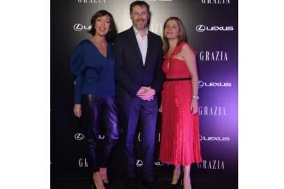 Festa Grazia e Lexus Milano presentazione della nuova AUTOMOBILE LEXUS UX HYBRID