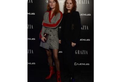 Festa Grazia e Lexus Milano presentazione della nuova AUTOMOBILE LEXUS UX HYBRID Sara e Daniela