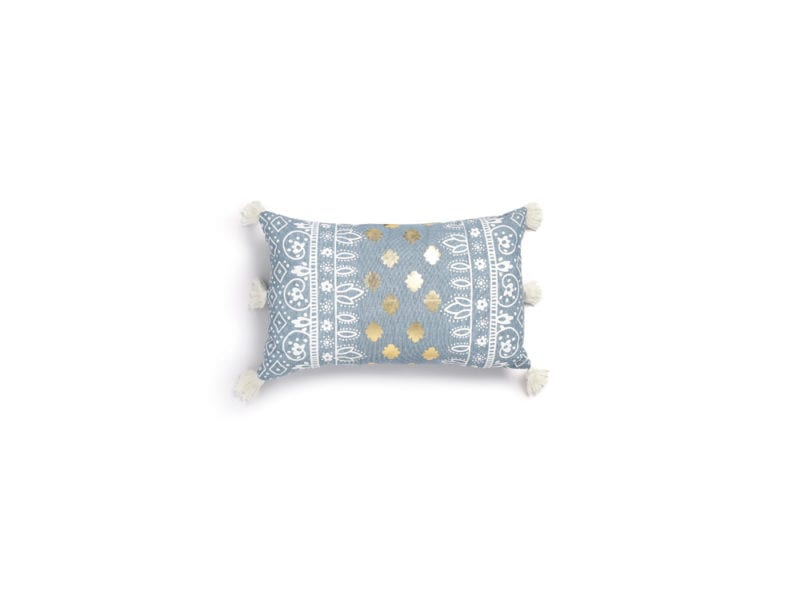 Primark-Home_Chambray-Foil-Cushion,-€8