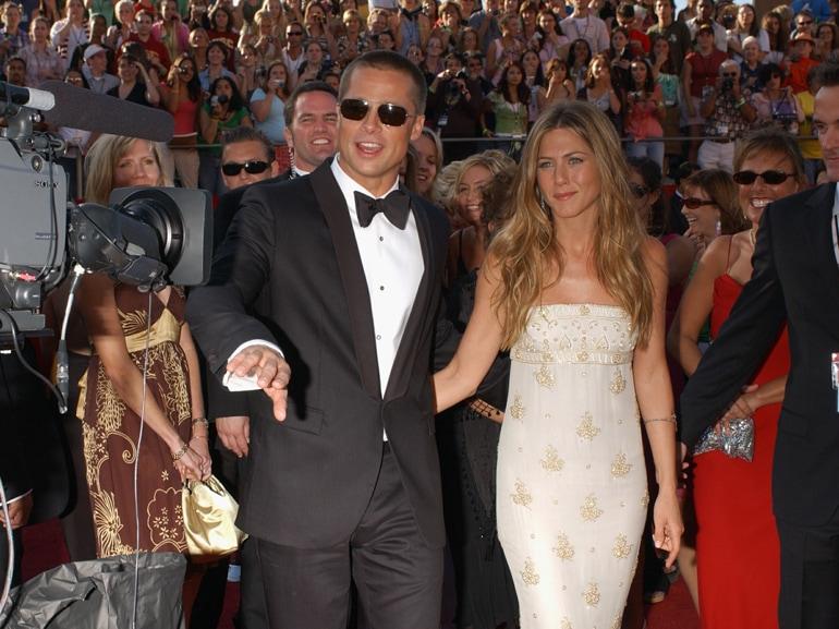 Brad Pitt al compleanno di Jennifer Aniston