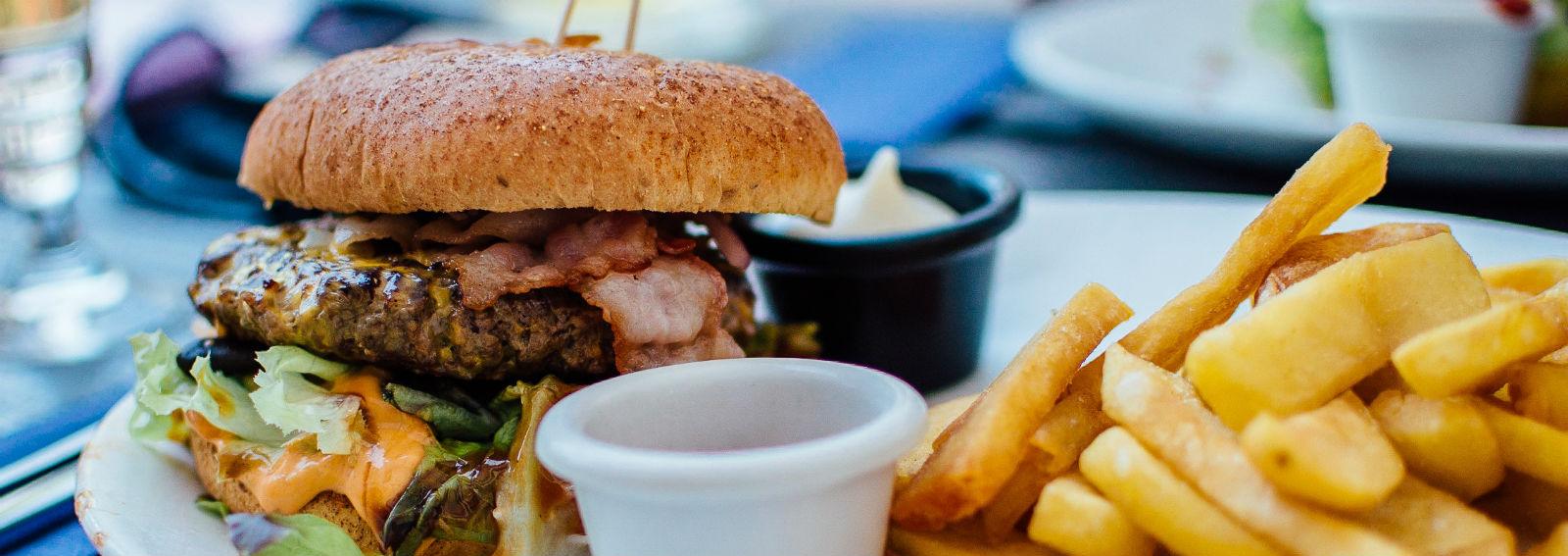 junk food hamburger patatine ( desktop)