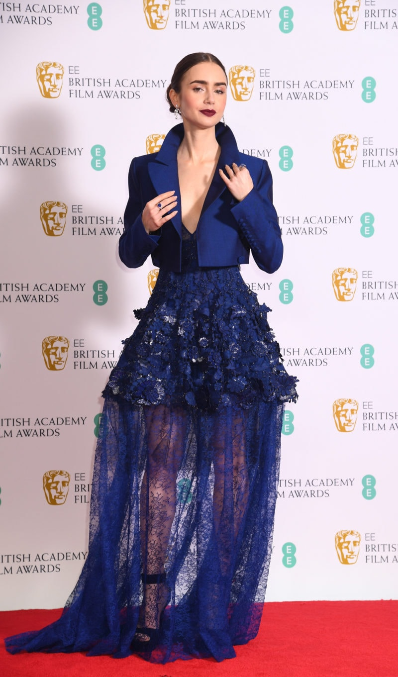 lily-collins-bafta