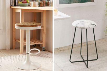 Sgabello bar con schienale alto carlo made in italy design moderno