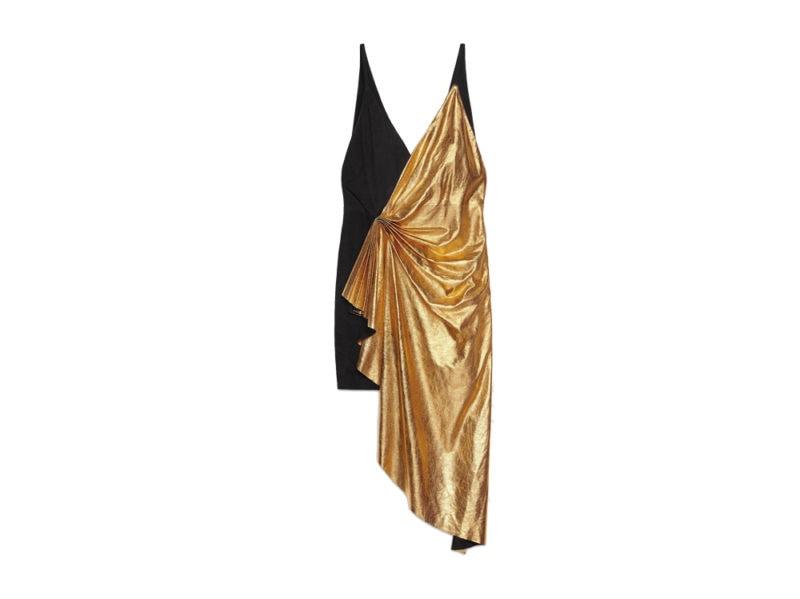 01-GUCCI-Mini-abito-asimmetrico-in-pelle-metallizzata