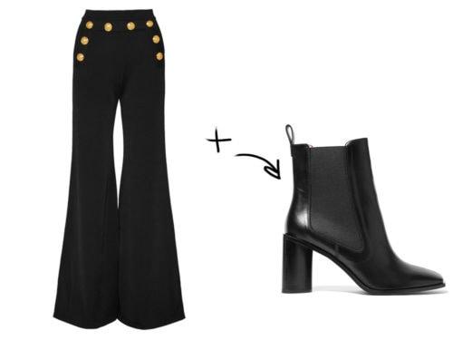 Scarpe per pantaloni a zampa: 6 abbinamenti per la primavera