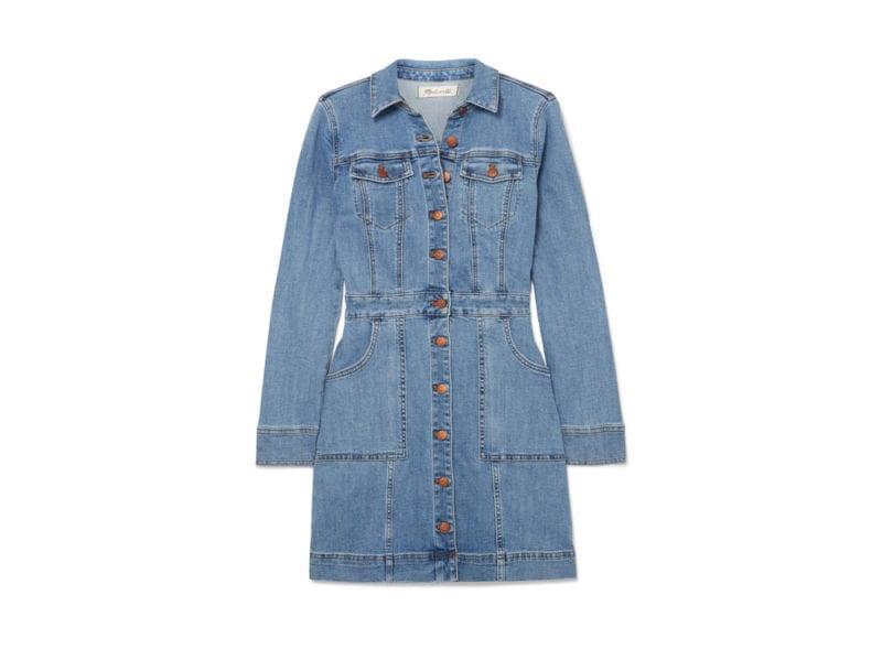 eaa5a7f62e MADWELL Abito corto con maniche lunghe in stoffa denim color blue jeans.