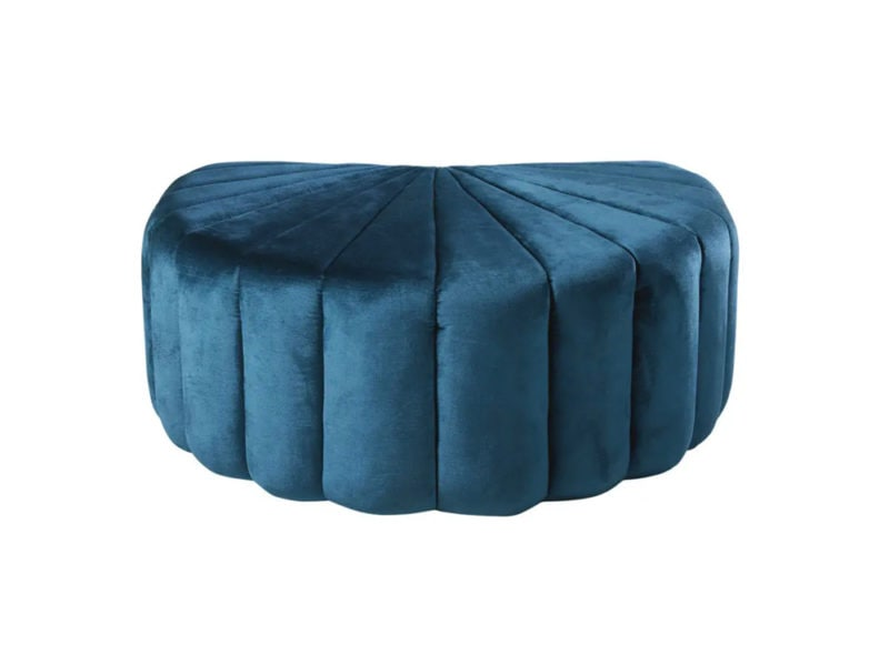 21–Pouf-conchiglia-in-velluto-blu-e-legno-di-pino-
