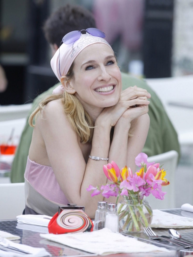 Carrie Bradshaw bandana rosa