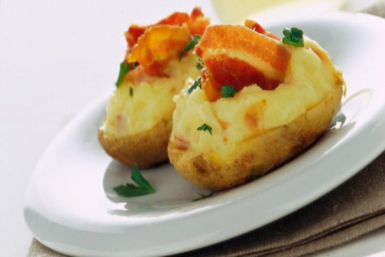 Contorno di patate farcite di pancetta