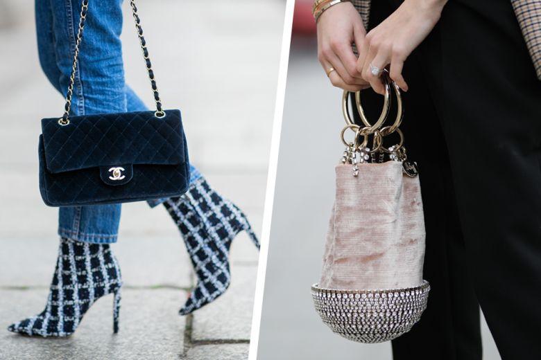 Velvet bags: le borse di velluto non ci abbandonano neanche in primavera!