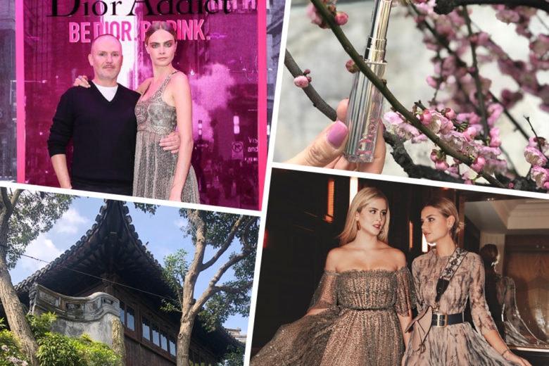 Shanghai e la fioritura in rosa dei nuovi rossetti Dior Addict Stellar Shine