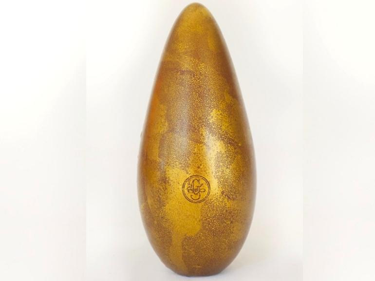 Guido Gobino uovo con decorazione oro