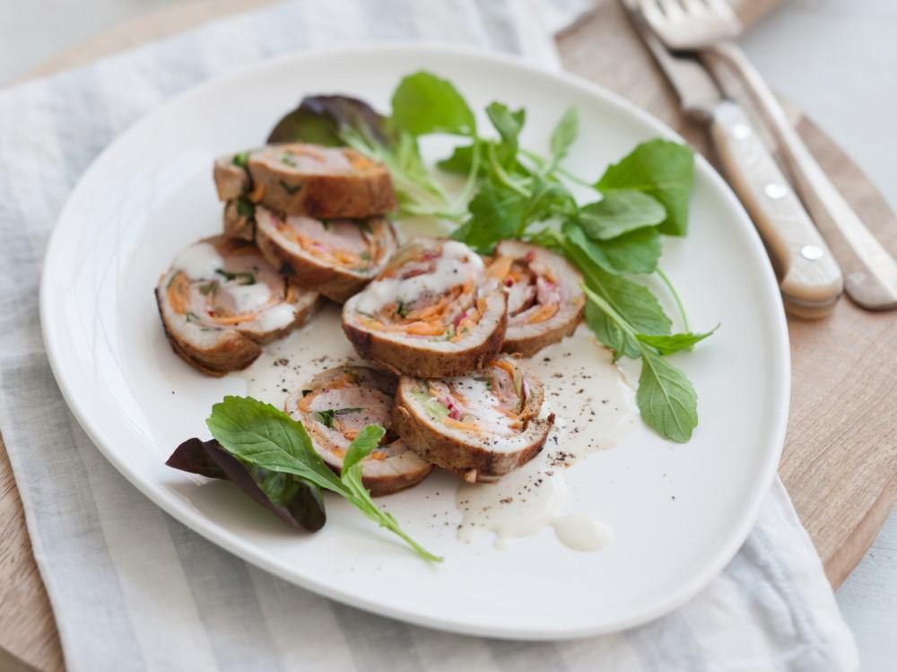 Involtini con ravanelli e salsa di alici