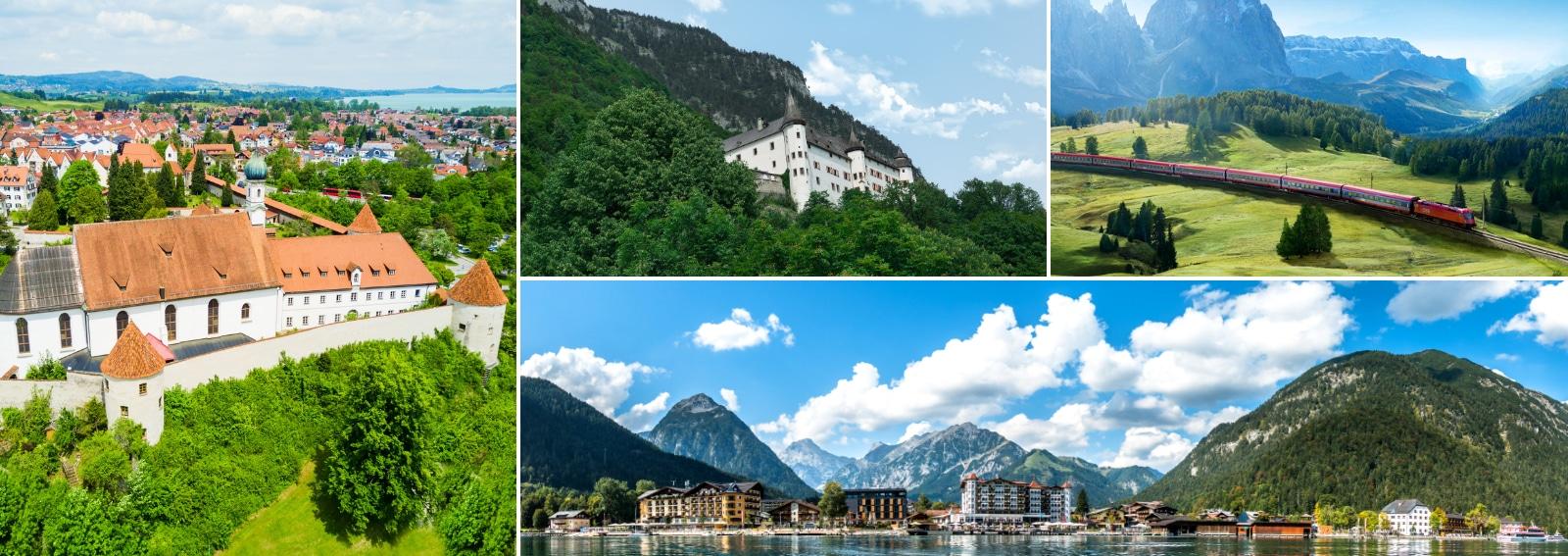 Jenbach Tirolo cittadina tra Innsbruck e Kufstein raggiungibile con treni DB-OBB Eurocity DESK