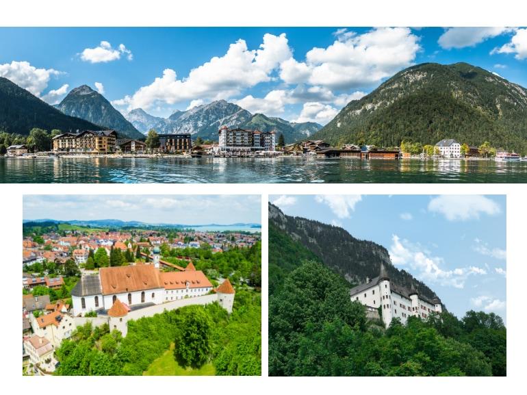 Jenbach Tirolo cittadina tra Innsbruck e Kufstein raggiungibile con treni DB-OBB Eurocity MOBILE