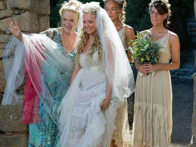 Meryl Streep abito da sposa