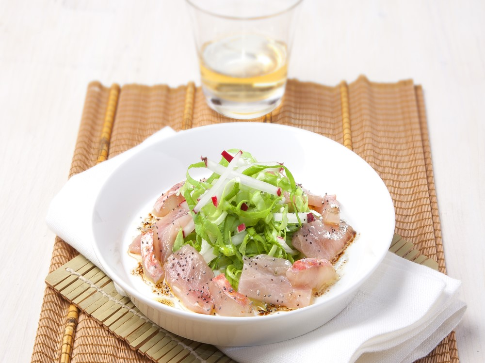 Sashimi con ravanello ghiaccio