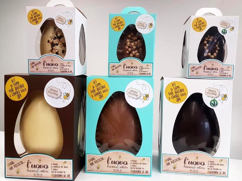 Uovo raw chocolate Be Well azienda Perugia Pasqua 2019